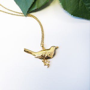 Gold Birdsong Necklace