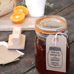 Food Jar Stamp - gifts for bakers