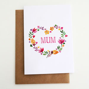 Personalised 'Floral Heart' Card For Her - wedding cards