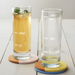 Personalised Large Measure Hi Ball Glass - glassware
