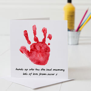 Personalised Hand Print Mother's Day Card - last-minute cards & wrap