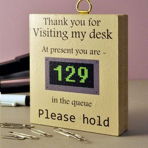 Thank You For Visiting My Desk…Wooden Sign