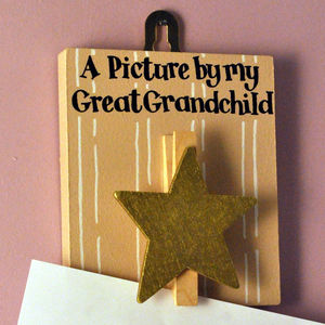 'A Picture By My Great Grandchild' Peg Board - children's room accessories