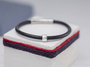 Personalised Boys Leather Bracelet - wedding thank you gifts