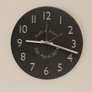 Personalised Slate Clock - clocks
