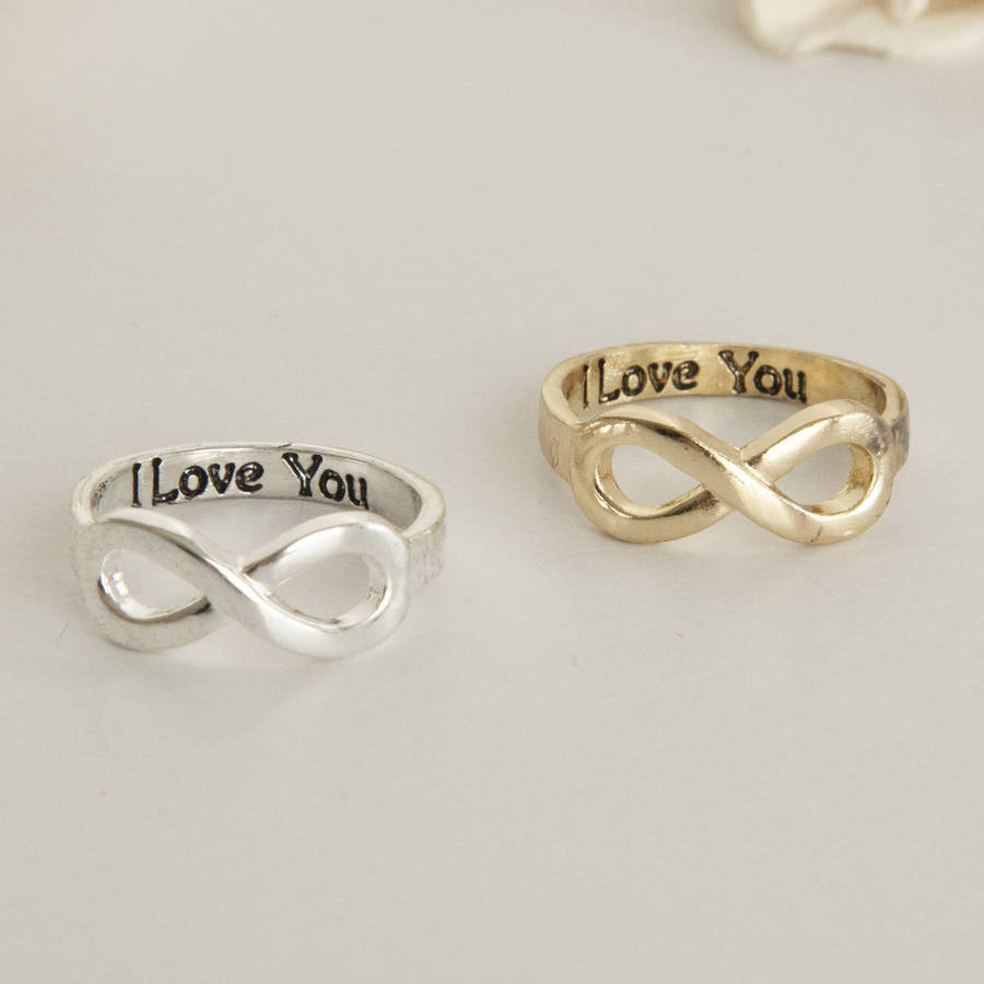 romantic signature of cubic plated lover for eternity rings gold gift love jewelry rose from zirconia letter women ring product