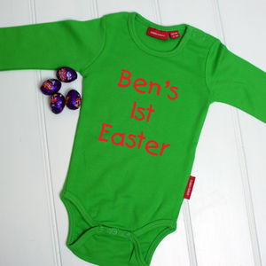 Personalised First Easter Babygrow - easter clothing & fancy dress