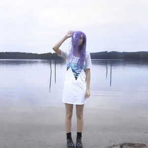 Hand Painted Water Dress - women's fashion