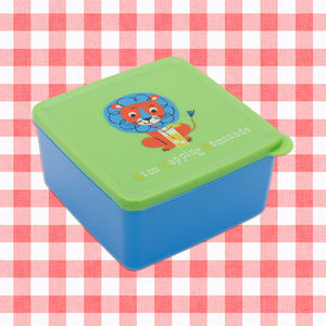 Party Animals Illustrated Lunch Box - lunch boxes & bags