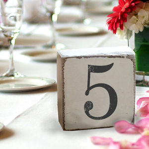 Vintage Style Wedding Table Numbers - new in wedding styling