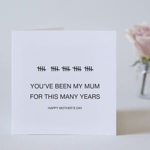 You've Been My Mum This Many Years - mother's day cards