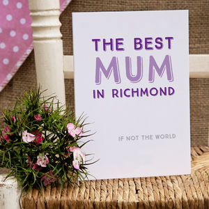 Best Mum In… Personalised Card - cards & wrap