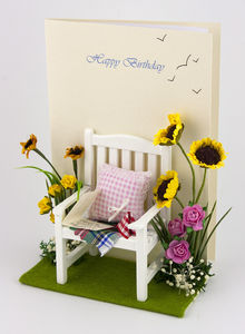 Personalised Garden 3 D Greetings Card - mother's day cards