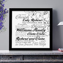 Personalised Family Names As Art Print