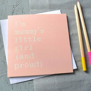 'Mummy's Girl' Card - mother's day cards