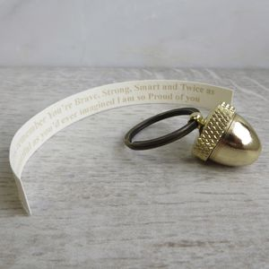 Secret Message Acorn Locket Keyring - keyrings