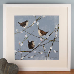 Garden Birds, Wrens Painting - canvas prints & art