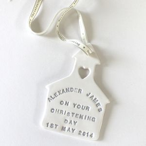 Personalised Ceramic Christening Keepsake