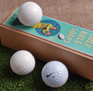 Set Of Four Golf Ball Soaps