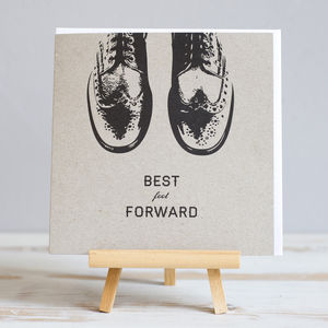 'Best Foot Forward' Male Recycled Birthday Card