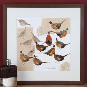 Countryside Birds, Pheasants Painting