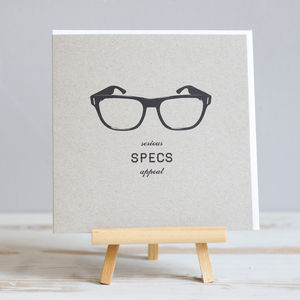 'Specs Appeal' Glasses Male Recycled Card