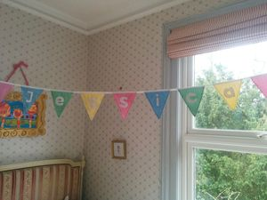 Personalised Spring Gingham Bunting