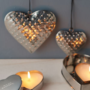 Stainless Steel Hanging Heart - new in wedding styling