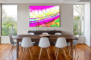 Summer Breeze, Pink And Yellow Abstract Canvas - paintings & canvases