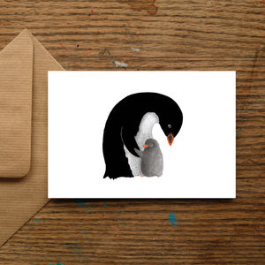 Love You Penguin Mother's Day Card