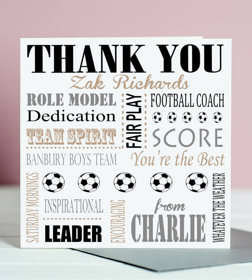 thank you football coach card by lisa marie designs ...