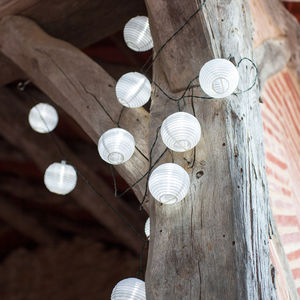 White Chinese Lantern Solar Lights