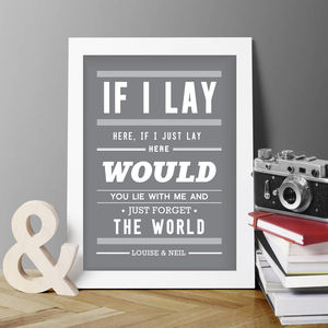 Personalised Snow Patrol Print