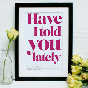 Personalised Our First Dance Framed Print - music inspired home accessories