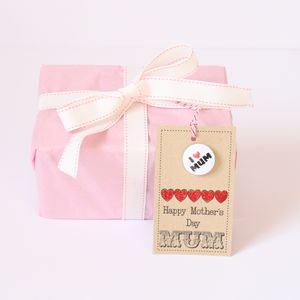 Handmade 'Happy Mother's Day' Gift Tag And Badge