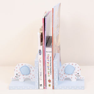 Wooden Elodie The Elephant Bookends - baby's room