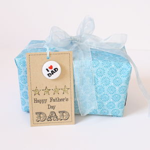 Handmade Gift Tag With Badge 'Happy Father's Day, Dad'