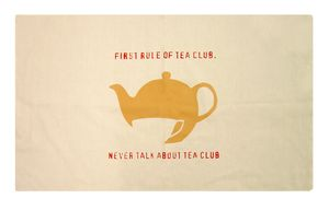 Tea Club Tea Towel - kitchen linen