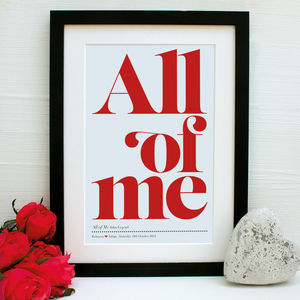 Personalised Our Song Framed Print - whatsnew