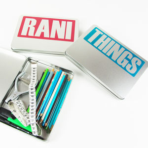 Personalised 'Text' A5 Hinged Tin