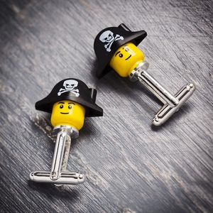 Pirate Mini Head Cufflinks - men's jewellery