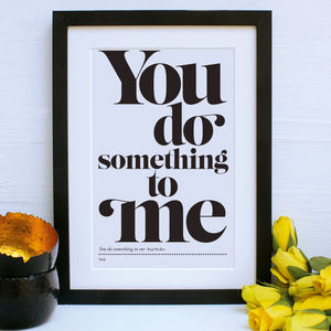 Personalised My Favourite Song Framed Print - posters & prints