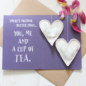 Large Mother's Day Tea Card