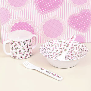Fairy Melamine Baby Feeding Set