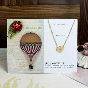 'Adventure' Charm Necklace - frequent traveller