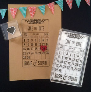 Deco Calendar 'Save The Date' Stamp Set