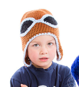 Crocheted Flying Hat With Matching Egg Cosy - hats, scarves & gloves