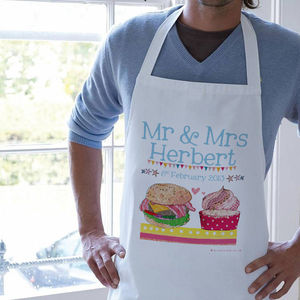 Personalised Mr And Mrs Foody Love Apron - kitchen accessories