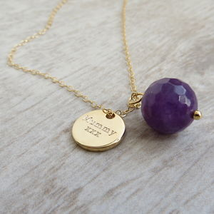 Gemstone Globe Necklace