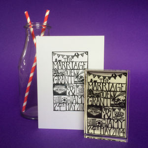 Bespoke Wedding Stamp - engagement & wedding invitations